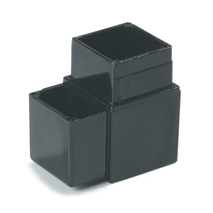 "Carlisle 900431 Sneeze Guard Assembly Block - 1"" Square, 90-Angle, Aluminum, Gray"