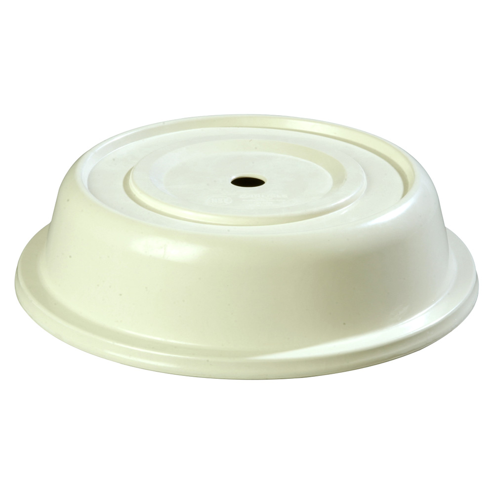 "Carlisle 91055202 10-1/8"" to 10-1/2"" Plate Cover - Polyglass, Bone"