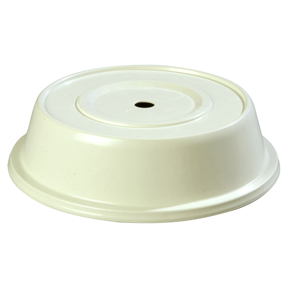 "Carlisle 91070202 10-1/4"" to 10-5/8"" Plate Cover - Polyglass, Bone"
