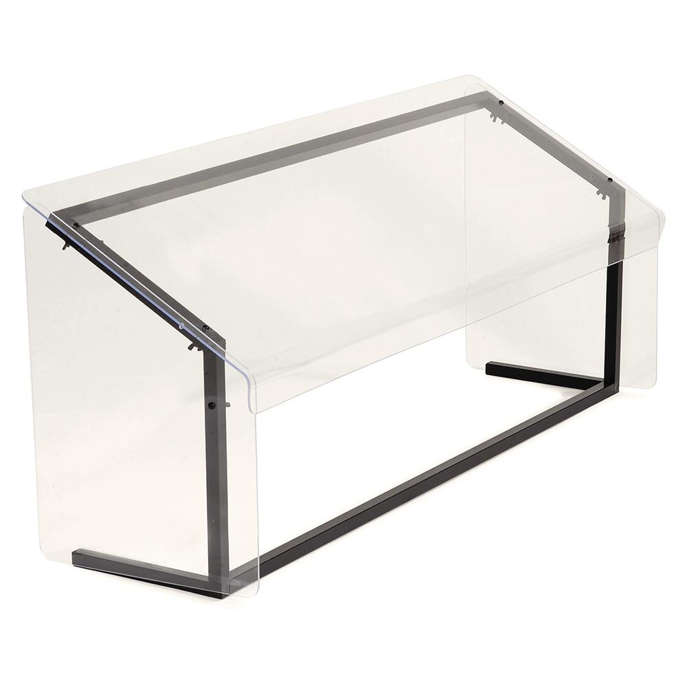 "Carlisle 914803 48"" Portable Sneeze Guard - Free-Standing, Acrylic/Aluminum, Black"