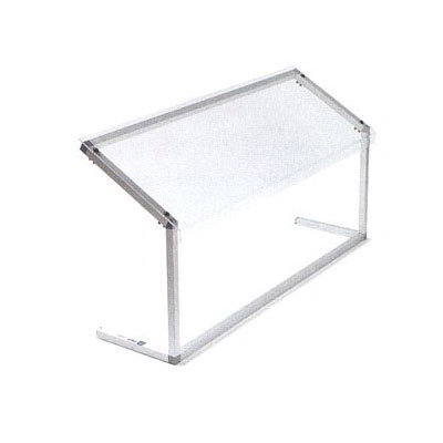 "Carlisle 927207 73-5/8"" Portable Sneeze Guard - Adjustable, Acrylic/Aluminum, Clear"