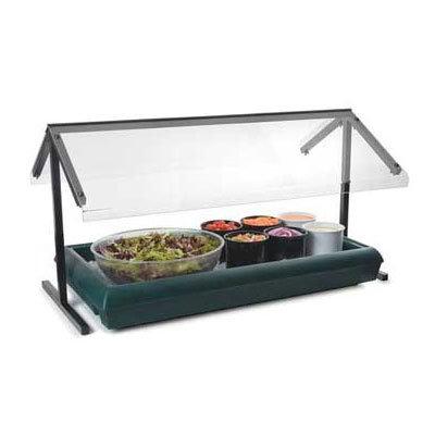 "Carlisle 971003 48"" Portable Sneeze Guard - Fixed Double-Sided, Acrylic/Aluminum, Black"