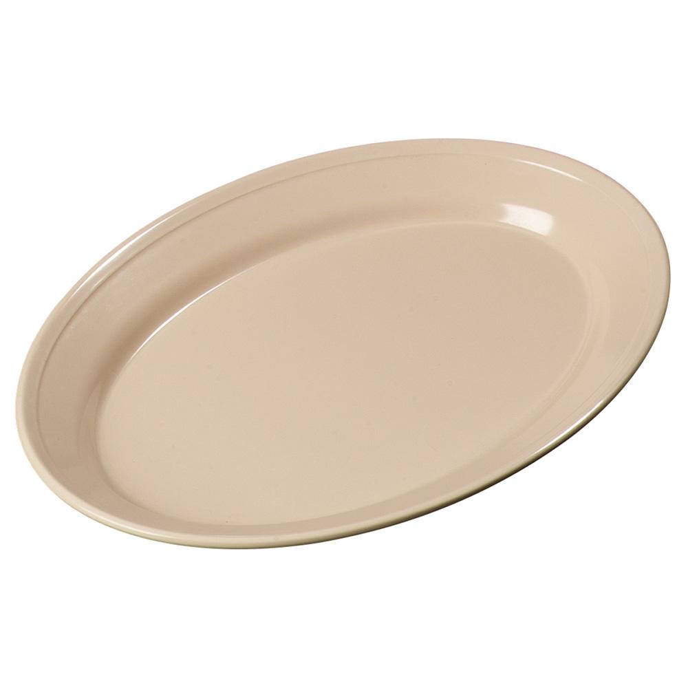 "Carlisle ARR12025 Oval Platter - 12x8-1/2"" Melamine, Tan"