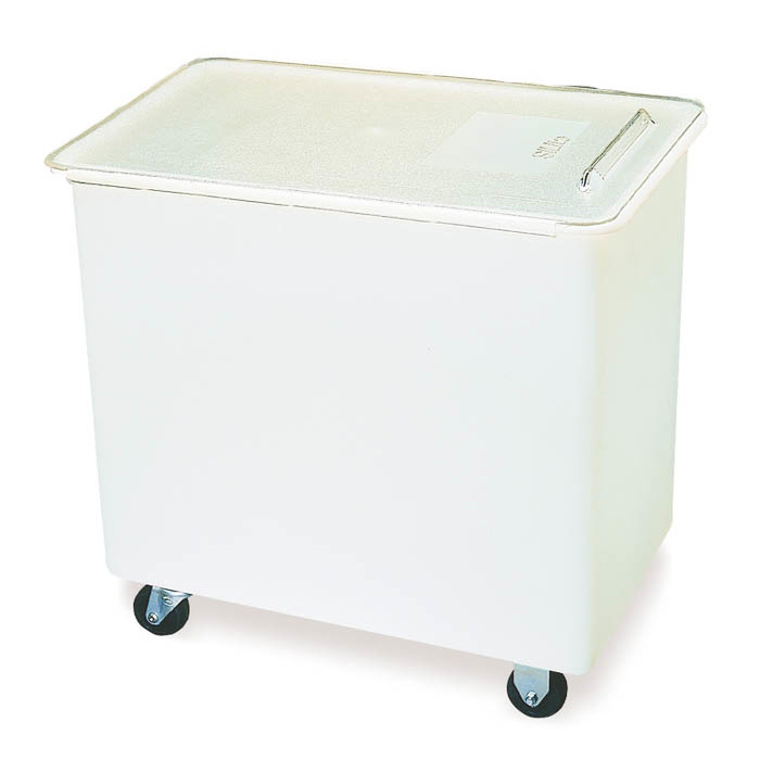 Carlisle BIN2702 27-gal Mobile Ingredient Bin - Polyethylene, Clear/White