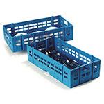 Carlisle C11114 Half-Size Dishwasher Flatware Rack - Open Bottom, Polypropylene, Blue