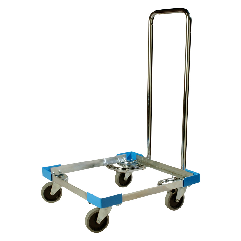 Carlisle C2222A14 Open Frame Dolly for Dishwasher Rack w/ Handle, Multi-Stack, 19.75 x 19.75""