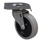 """Carlisle C2222C00 Plate Caster - 300-lb Capacity, 4"""" Ball Bearing Swivel"""
