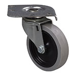 "Carlisle C2222C00 Plate Caster w/ 4"" Ball Bearing Swivel & 300-lb Capacity"