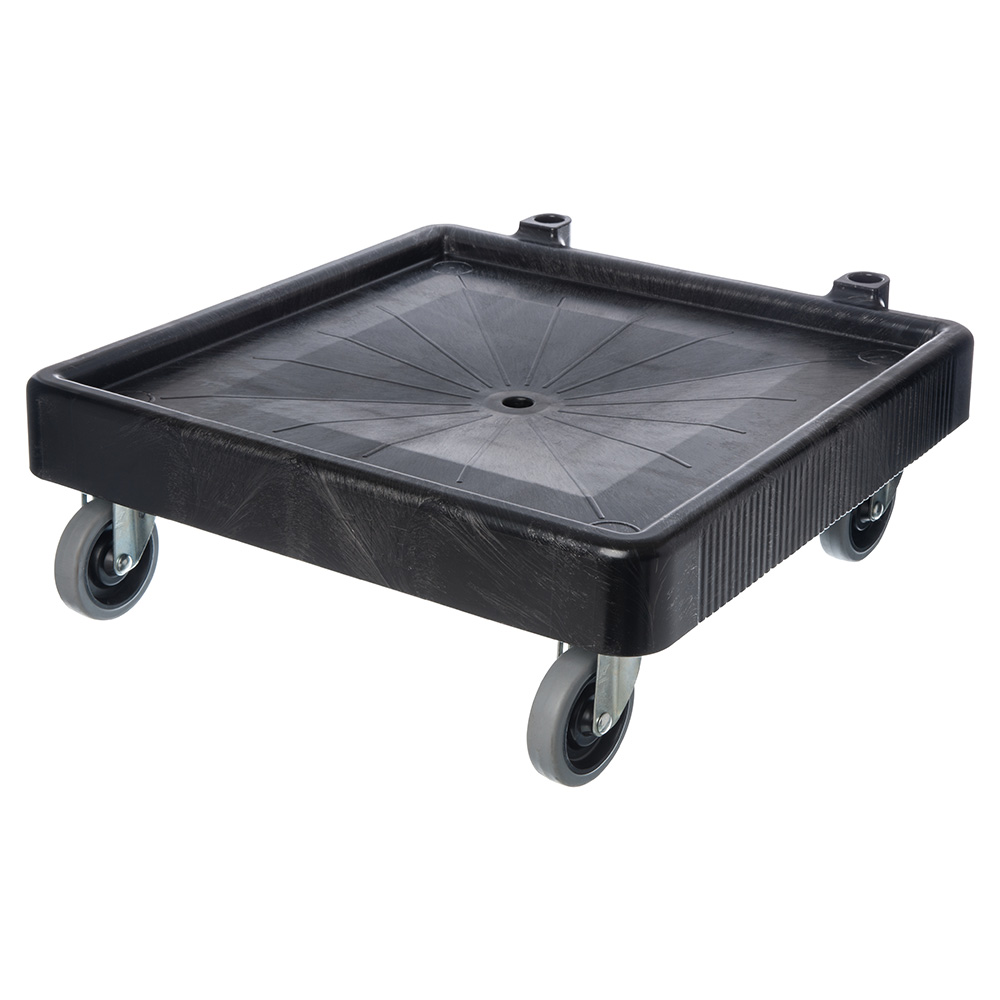 Carlisle C223603 Glass Rack Dolly - 350-lb Capacity, Platform Design, Polypropylene, Black
