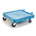 Carlisle C223614 Glass Rack Dolly w/350-lb. Capacity - Blue Plastic