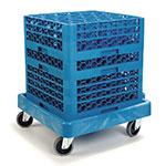 Carlisle C223614 Glass Rack Dolly w/350-lb. Capacity - Blue Plastic