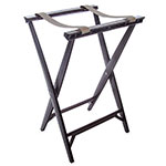 "Carlisle C3630W11 Folding Tray Stand - 19.75 x 16.67"" x 30.5"", (2) Black Straps, Walnut"