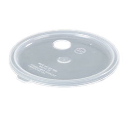 Carlisle 020430 2.7-qt Crock Lid w/ Hole For Pump Translucent Restaurant Supply