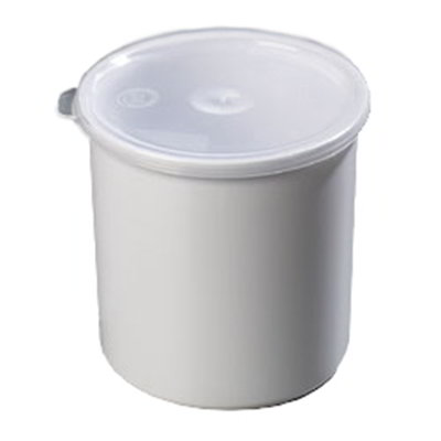 Carlisle 030102 1.2-qt Classic Crock - Snap-On Lid,  White