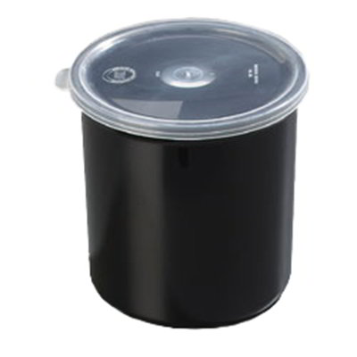 Carlisle 030103 1.2-qt Classic Crock - Snap-On Lid,  Black
