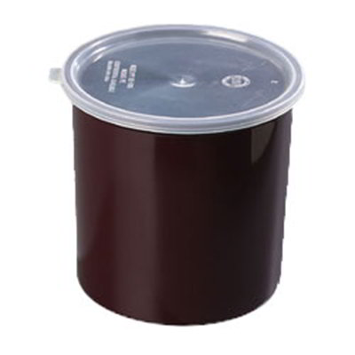 Carlisle 030201 2.7-qt Classic Crock - Snap-On Lid,  Brown