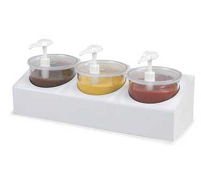 Carlisle 030600 Crock Condiment Station Kit - (3)2.7-qt Classic Crocks
