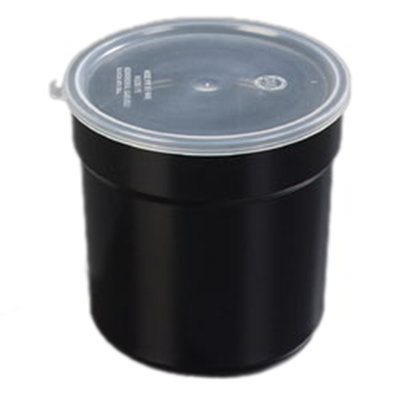 Carlisle 037203 2.7-qt Supreme Crock - Snap-On Lid, Black