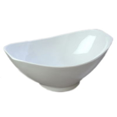 Carlisle 041102 4-qt Scoop Bowl, SAN, White