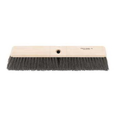 "Carlisle 362208P1803 18"" Floor Sweep Head - Fine/Medium, Foam Block, Black Poly Bristles"