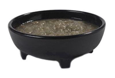Carlisle 087803 8-oz Molcajete Salsa Dish - Melamine, Black