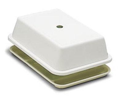 "Carlisle 1014502 6-Compartment Tray Cover - 14.5x10"" White"