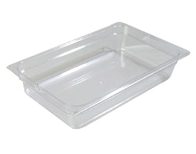 "Carlisle 1020103 Full Size Food Pan - 4""D, Black"