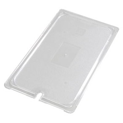 Carlisle 10217U07 Universal Full Size Food Pan Lid - Flat, Notched, Clear
