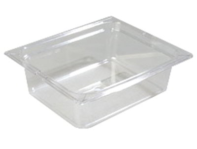 """Carlisle 1022107 Half Size Food Storage Container - 4"""" D, Clear"""