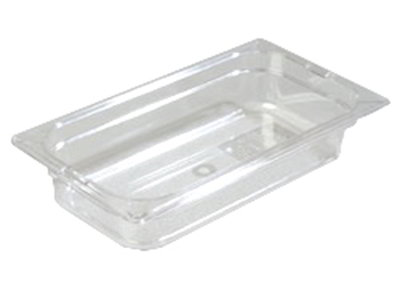 "Carlisle 1026007 1/3 Size Food Pan - 2-1/2""D, Clear"