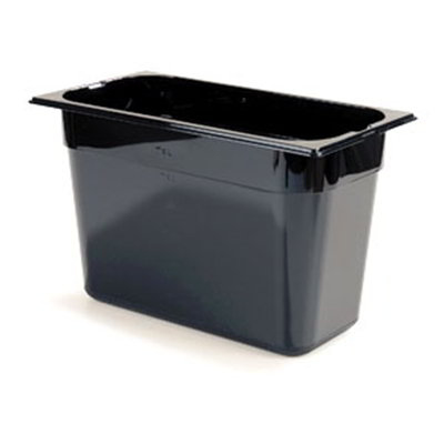 "Carlisle 1026903 1/3 Size Food Pan - 8""D, Black"
