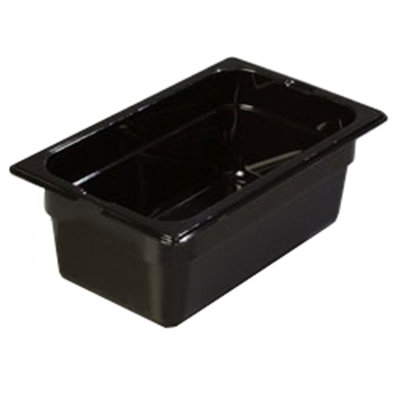 "Carlisle 1028103 1/4 Size Food Pan - 4""D, Black"