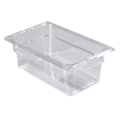 "Carlisle 10281-807 1/4 Size Food Pan - 4""D, (3/Pk) Clear"