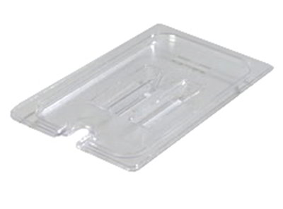 Carlisle 10291U07 Universal 1/4 Size Food Pan Notched Lid - Clear