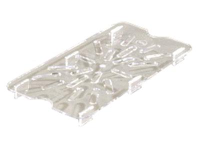 Carlisle 1029507 1/4 Size Drain Shelf - Clear