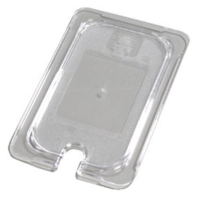Carlisle 10297U07 Universal 1/4 Size Food Pan Lid - Flat, Notched, Clear