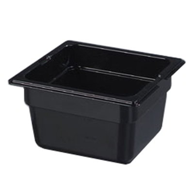 "Carlisle 1030103 1/6 Size Food Pan - 4""D, Black"