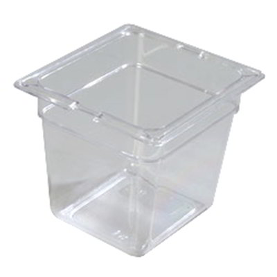 "Carlisle 10302-807 1/6 Size Food Pan - 6""D, (3/Pk) Clear"