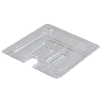 Carlisle 1031107 1/6 Size Food Pan Lid - Notched, Clear