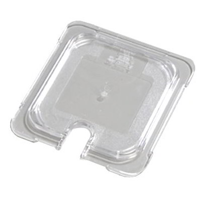 Carlisle 10317U07 Universal 1/6 Size Food Pan Lid - Flat, Notched, Clear