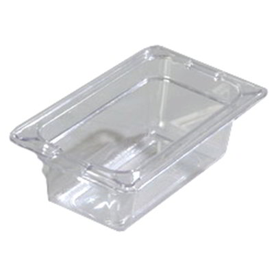 "Carlisle 1032007 1/9 Size Food Pan - 2-1/2""D, Clear"