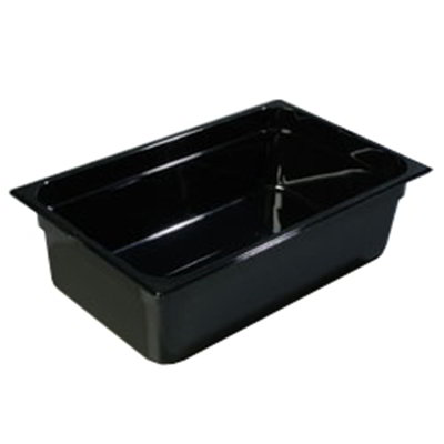 "Carlisle 1040203 High Heat Full Size Food Pan - 6""D, Black"