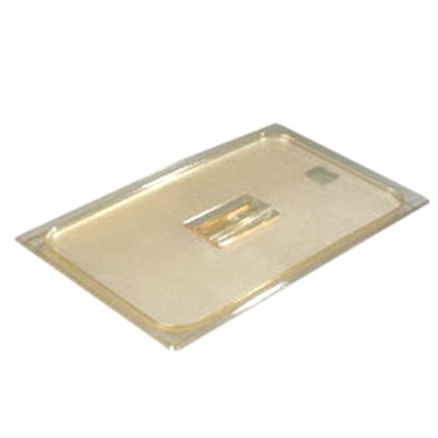 Carlisle 10410U13 Universal Full Size High Heat Food Pan Solid Lid - Amber