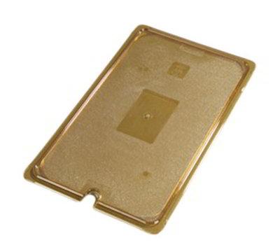 Carlisle 10417U13 Universal Full Size High Heat Food Pan Lid - Flat, Notched, Amber