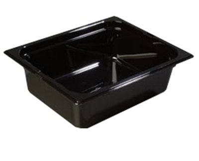 "Carlisle 1042103 High Heat Half Size Food Pan - 4""D, Black"