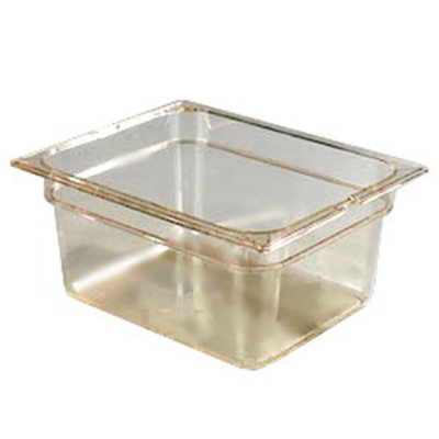 "Carlisle 1042213 High Heat Half Size Food Pan - 6""D, Amber"