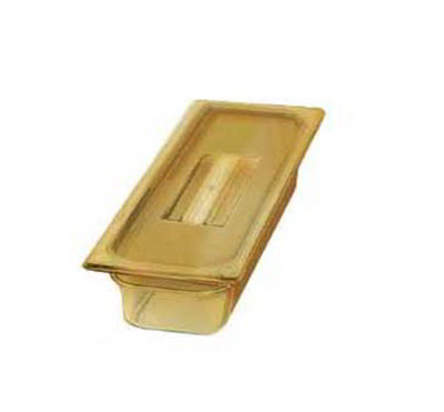 "Carlisle 10460-813 High Heat 1/3 Size Food Pan - 2-1/2""D, (3/Pk) Amber"