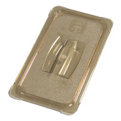 Carlisle 10470U13 Universal 1/3 Size High Heat Food Pan Solid Lid - Amber