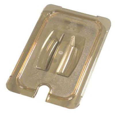 Carlisle 10471U13 Universal 1/3 Size High Heat Food Pan Notched Lid - Amber