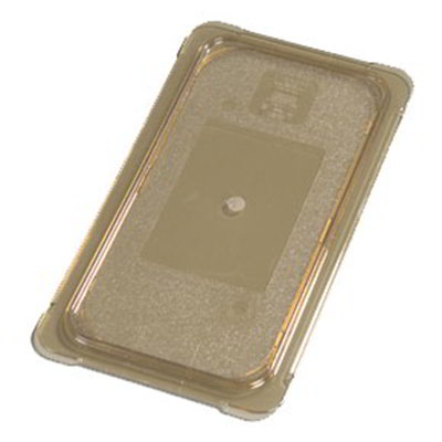 Carlisle 10476U13 Universal 1/3 Size High Heat Food Pan Lid - Flat, Amber